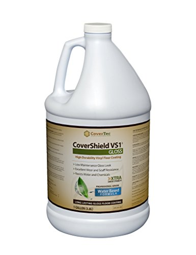 CoverShield VS1 Gloss VCT and Terrazzo Sealer, Fast Drying, Highly Durable, Long Lasting (1 GAL - Prof Grade)