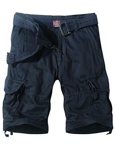Match Men's Retro Cowboy Denim Cargo Shorts (Label size 3XL/38 (US 36), S3596 Blue)