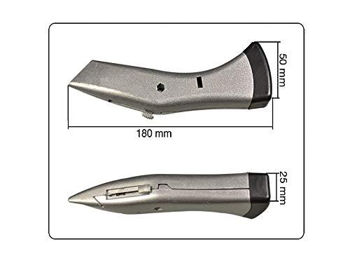 ergonomisches Teppichmesser 180mm mit Klingenr/ückzug und Kunststofftasche