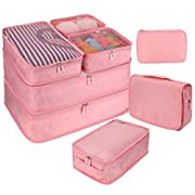 8 PC Packing Cube Travel Luggage Organiser Bag for Suitcase Lightweight Travel Essential Bag with Large Toiletries Bag…