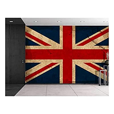 Magnificent Design, Large Wall Mural Vintage UK Flag Vinyl Wallpaper Removable Decorating, With a Professional Touch