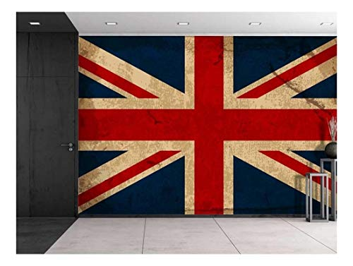 Large Wall Mural Vintage UK Flag Vinyl Wallpaper Removable Decorating