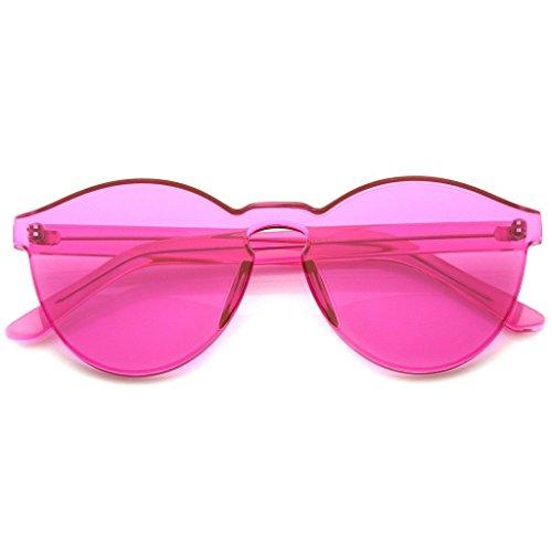 RIMLESS MONOBLOCK CUT PC PINK LENS RIMLESS - Sunglasses Rimless Monoblock