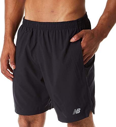 (New Balance Accelerate 7 Inch Short, Black,)