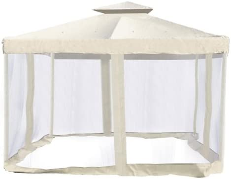 EliteShade Gazebo Mosquito Netting Screen Walls for 12 x 12 Titan Gazebo Mosquito Net Only