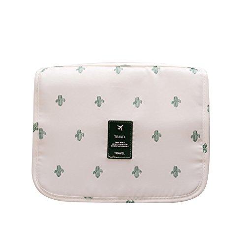 LULANLe grand voyage en plein air pour hommes imperméable portable voyage sac de lavage Sac toilette trousse cosmétique de ,24*20*9,5 cm, Cactus