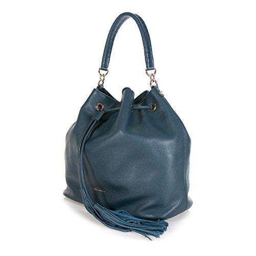 Coccinelle - Bolso de asas de Piel para mujer Azul turquesa L