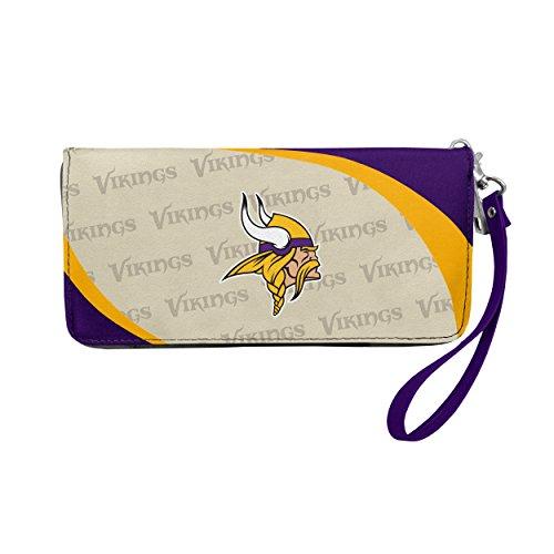 Minnesota Vikings Gear (NFL Minnesota Vikings Curve Zip Organizer Wallet)