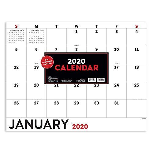 2020 Basic Utility Monthly Desk Blotter Calendar