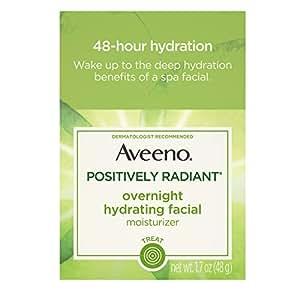Aveeno Active Naturals Positively Radiant Overnight Hydrating Facial... Health & Beauty Night Treatments