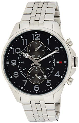 Tommy Hilfiger Men s Quartz Stainless Steel Casual Watch, Color Silver-Toned Model 1791276