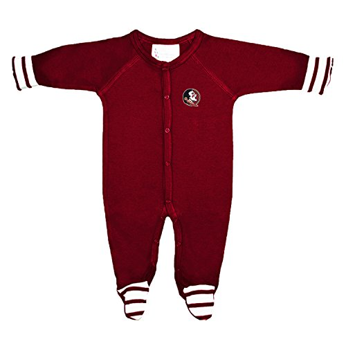 Two Feet Ahead Florida State Seminoles NCAA Newborn Baby Long Sleeve Colored Footed Romper