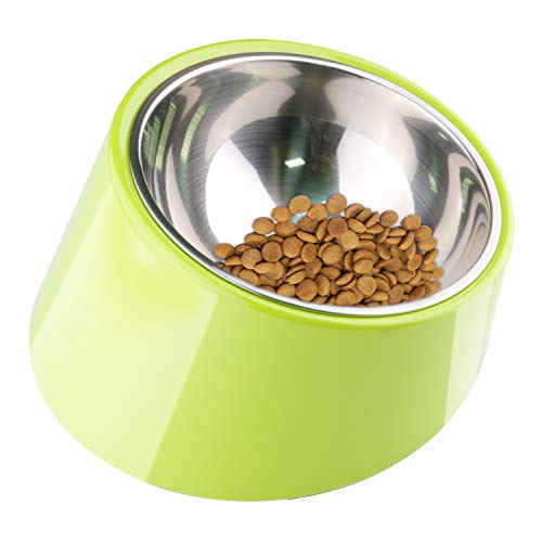 Super Design Mess Free 15 Degree Slanted Bowl for Dogs and Cats