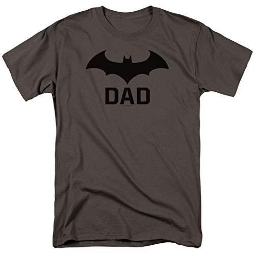 Popfunk Batman Bat Dad Hush Logo T Shirt for Fathers & Dads W/Stickers