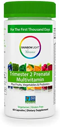 Rainbow Light Vibrance Trimester 2 Prenatal Multivitamin – 60 Count