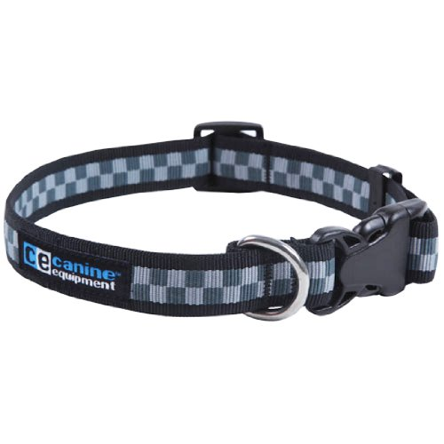 Canine Equipment Ultimate 1-Inch Utility Dog Clip Collar, X-Large, Checkerboard