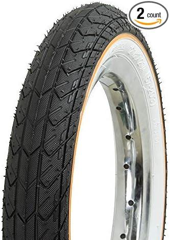 "Bicycle 2 Tires 2 Tubes 12-1//2/"" x 2-1//4/"" All White BMX Cruiser Lowrider Bikes"