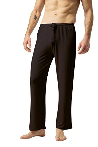 Loose Fit Sleep Pant (ZSHOW Men's Thin Yoga Pockets Pants Elastic Loose Fit Straight Trousers(Coffee,S))