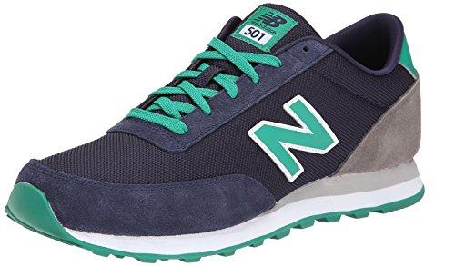 New Balance Men's ML501 Core Collection Classic Running Shoe, Navy/Green, 11.5 D US