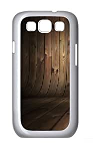 Curved Wood PC Case Cover for Samsung Galaxy S3 and Samsung Galaxy I9300 White