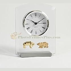Bey-Berk Stock Market Desktop Clock