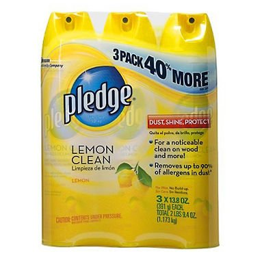3 Pack 13.8 Oz Lemon Scent Pledge Furniture Polish (Furniture Polish)