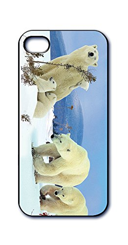 Dimension 9 Slim 3D Lenticular Cell Phone Case for Apple iPhone 5 or iPhone 5s - Polar Bear Family in Snow