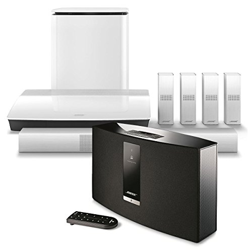 Click to buy Bose Lifestyle 650 Home Entertainment System (White) with SoundTouch 20 III Series Wireless Music System (Black) - From only $4348