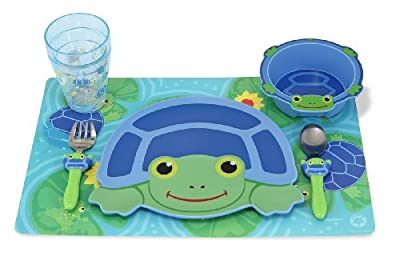 Melissa & Doug Scootin' Turtle Mealtime Set by Melissa & Doug