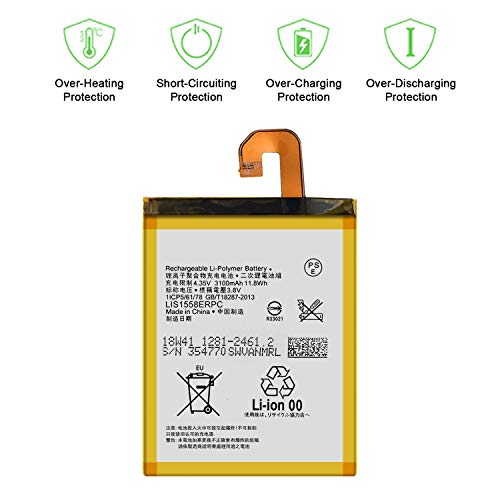 for Sony Xperia Z3 D6603 D6643 D6633 D6653 D6616 LIS1558ERPC Replacement Battery with Tools Adhesive