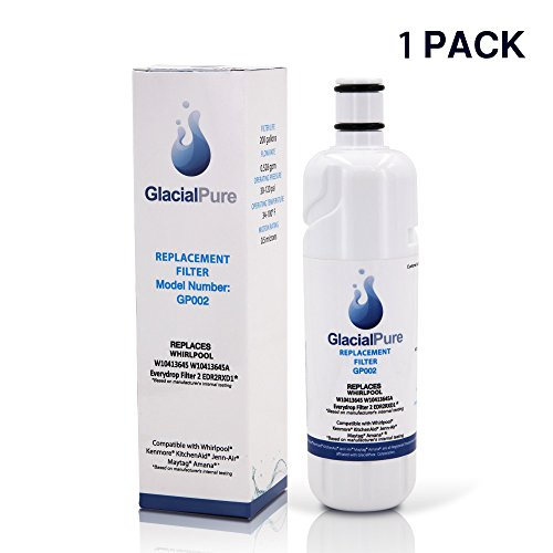 Glacial Pure EDR2RXDI WI04I3645A Refrigerator Water Filter Replacement For Whirlpool Refrigerator Water Filter 2 Kenmore by Glacial Pure