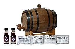 2-Liter American White Oak Barrel Irish Whiskey Kit with Cleaning Kit