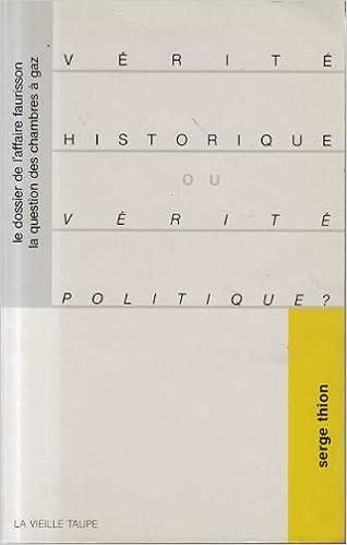 Vérité historique ou vérité politique pdf ebook