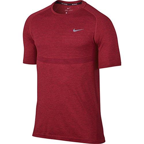 Nike Men's Dri-FIT Knit Running Top TEAM RED/UNIVERSITY RED MED