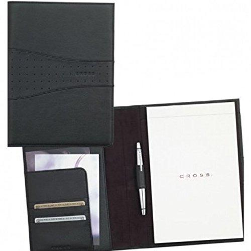 Cross Padfolio with Pen -Black Pebbled Leather AC245-1 Cross Autocross Pocket Pen