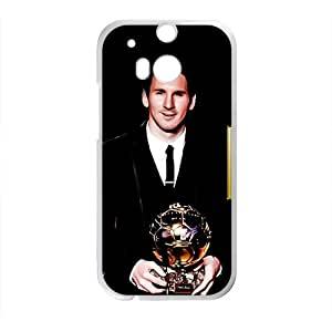 Soccer Celebrity Lionel Messi White Phone Case for HTC One M8