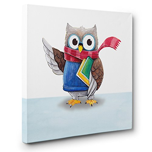 Owls With Books CANVAS Wall Art Home Décor
