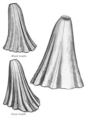 Edwardian Sewing Patterns- Dresses, Skirts, Blouses, Costumes 1903 Edwardian Era Trumpet Skirt Pattern                               $15.90 AT vintagedancer.com