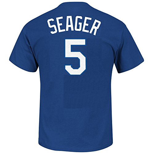Los Angeles Dodgers Corey Seager Majestic Mlb Youth Official Player T Shirt  Youth Xl