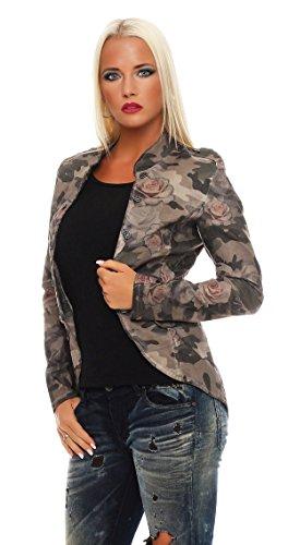 ZARMEXX Fashion -  Giacca  - Blazer - Donna Beige S/42