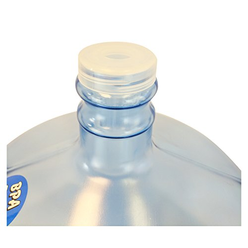 For Your Water NO SPILL Water Bottle with Handle - 3 Gallon BPA 55mm Crown Snap On Top Free Reusable Water Container with EZ Load Top - Prevents Water From Spilling When Loading - (Made in the USA)
