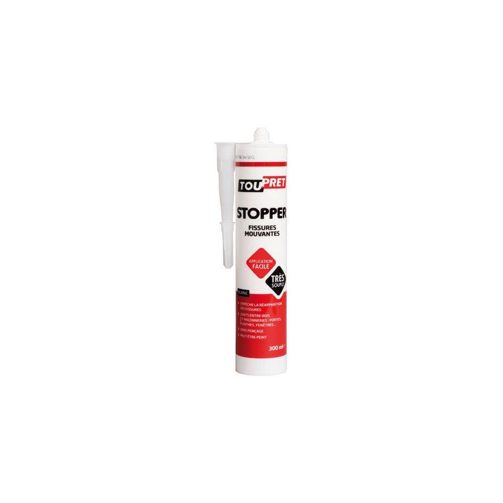 Toupret TP100036 Stopper pour arrêter fissures mouvantes 300 ml