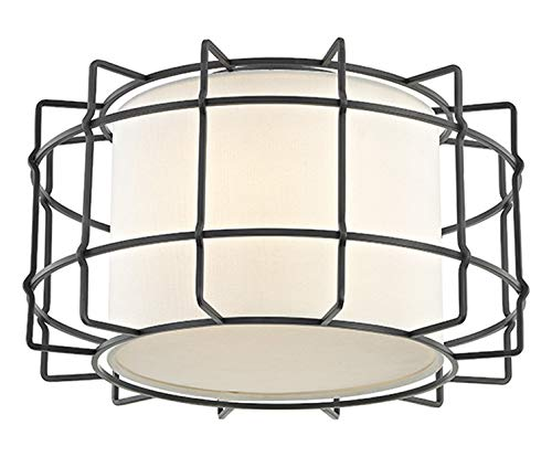 (Sovereign 2-Lights Flush Mount in Old Bronze)