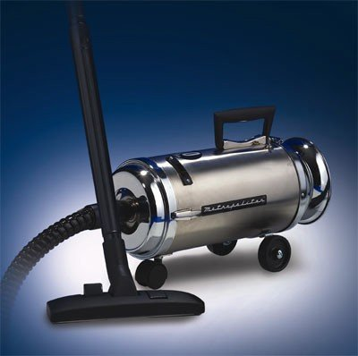 MetroVac Roll-A-Round Canister Vacuum Black OV-4PNHSF