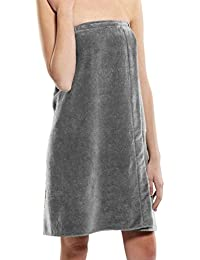 Terry Cotton Womens Bath Wrap Towels, Shower Spa Cover Up,