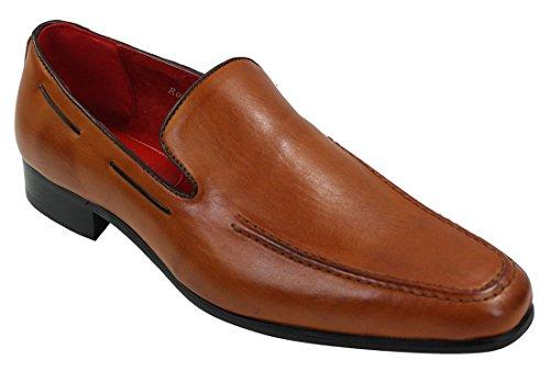 Braun Herren Slip eleganten lässigen On Italienische Leder Schuhe rCrw0