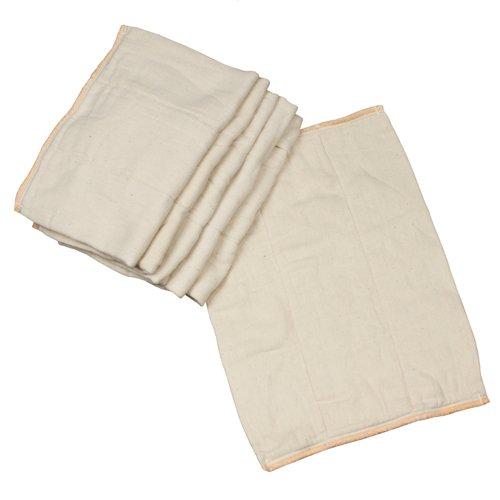OsoCozy Unbleached Prefold Cloth Diapers  12 count, Newborn - 4x6x4 (6-11 lbs)