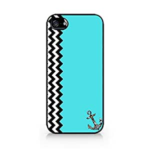 Vintage Chevron Case with Jewelry Anchor - Retro Style iPhone Cover - Hard Plastic case for iPhone 5S