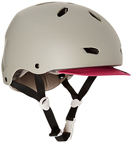 BERN Unlimited Brighton EPS Summer Helmet with Visor, Matte Grey, X-Small/Small