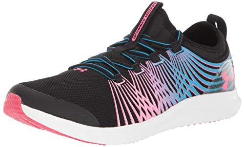 Under Armour Unisex Pre School Infinity 2 Sneaker, Black (001)/Capri, 3.5 M US Big Kid